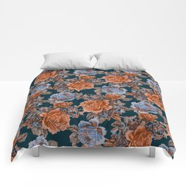 English Garden - Burnt Sienna/Navy Comforters