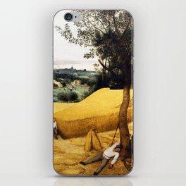 The Harvesters Painting by Pieter Bruegel the Elder iPhone Skin