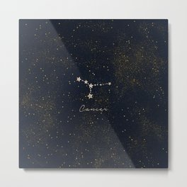 Cancer - Rose Gold Metal Print