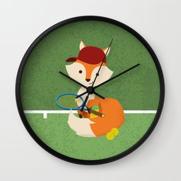 Tennis fox Wall Clock