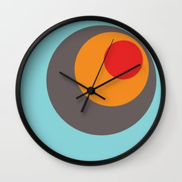 Brighid - Classic Colorful Abstract Minimal Retro 70s Style Dots Design Wall Clock