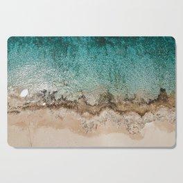 Caribbean Sea Blue Beach Drone Photo Cutting Board