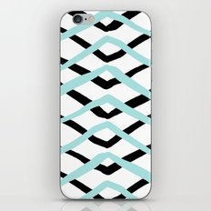 Pattern, turquoise and black iPhone & iPod Skin