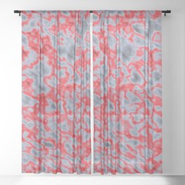 Heatup Rockin' Red ! Sheer Curtain