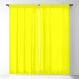 PLAIN SOLID FLUORESCENT YELLOW - NEON YELLOW  Blackout Curtain