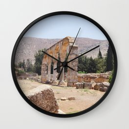 Old Ruins & Mountains Wall Clock