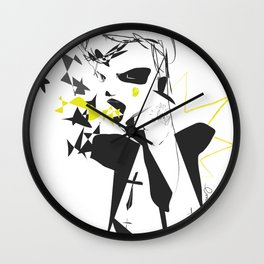 Wasted saturday night - Emilie Record Wall Clock