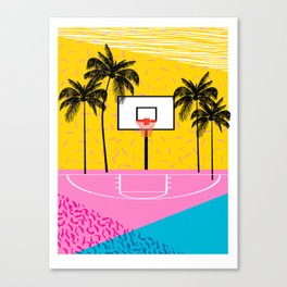 Dope - memphis retro vibes basketball sports athlete 80s throwback vintage style 1980's Canvas Print