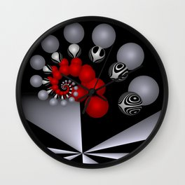 red white black -2- Wall Clock