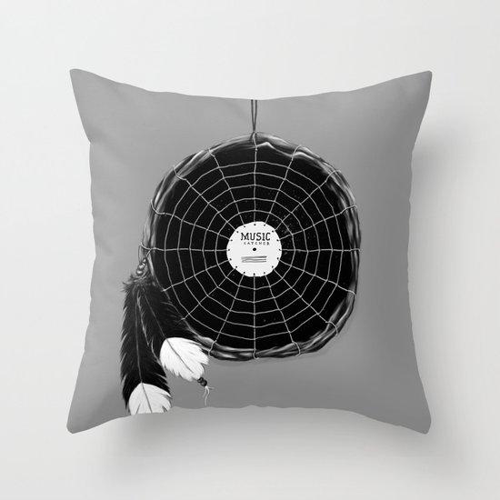 Music Catcher Throw Pillow