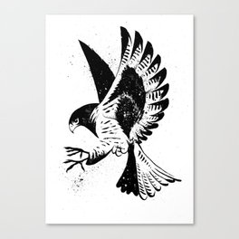 Falcon Ink Painting Canvas Print