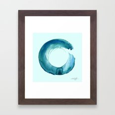 Serenity Enso No. 1 by Kathy Morton Stanion Framed Art Print