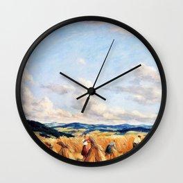 Harvest in the Czech-Moravian Highlands - Tavik Frantisek Simon Wall Clock