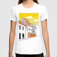 medieval T-shirts featuring Medieval houses by LaDa