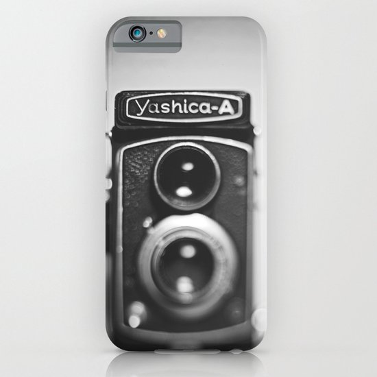 Yashica-A black and white iPhone & iPod Case
