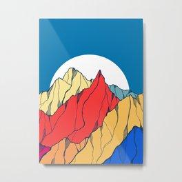 Stone vibrant mountains Metal Print