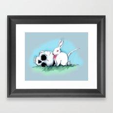 No Ordinary Rabbit Framed Art Print