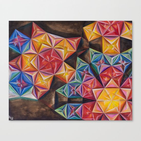 Shape Emanation Canvas Print