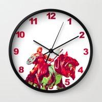 he man Wall Clocks featuring he-man by BzPortraits