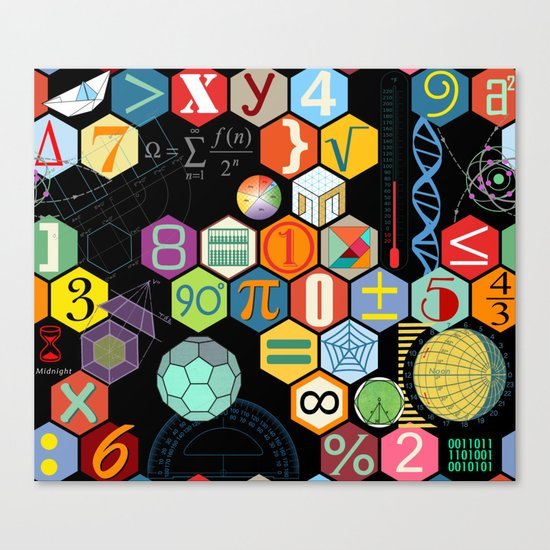 Math in color Black B Canvas Print