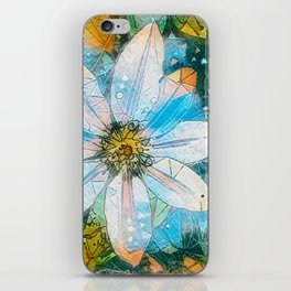 Clematis AI Blue Field iPhone Skin
