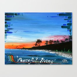 """PEACEFUL LIVING""  Canvas Print"