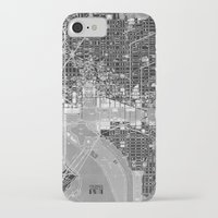 washington dc iPhone & iPod Cases featuring Washington DC Street Map by Color and Form