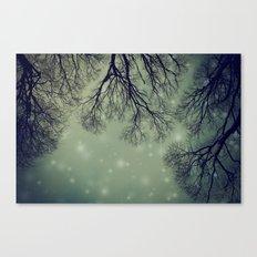 Alien Invader Trees Canvas Print