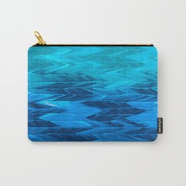 Blue Faded Chevron Carry-All Pouch