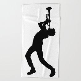 Trumpet Ludwig Beach Towel