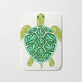 Sea Turtle – Green Palette Bath Mat