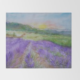 An Evening in Provence WC150601-12 Throw Blanket