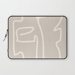 Abstract line art / Face/beige Laptop Sleeve
