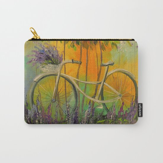 White Bicycle Carry-All Pouch