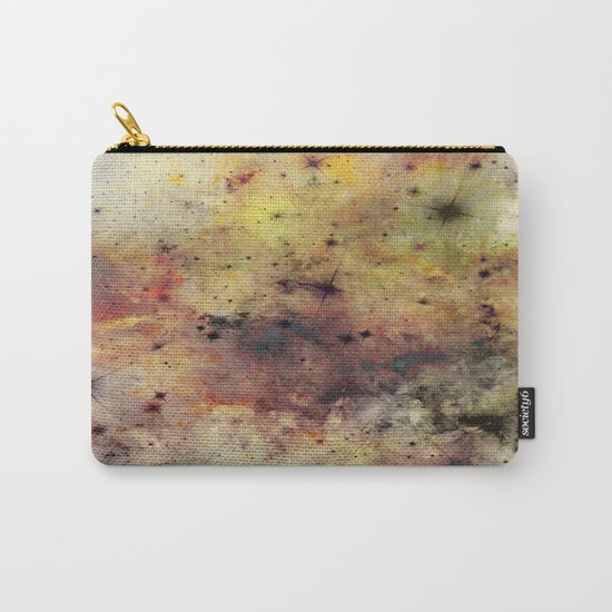 Into The Unknown - Abstract, rustic space style painting Carry-All Pouch