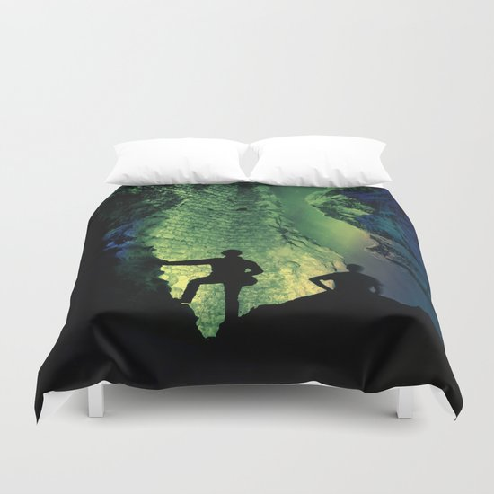 no lights to climb Duvet Cover