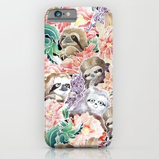 Because Sloths Watercolor iPhone 6s Slim Case