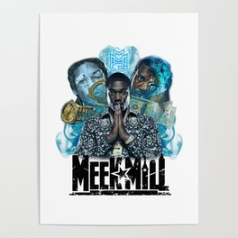 Meek Mill Collage Poster