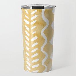 Loose bohemian pattern - yellow Travel Mug