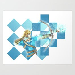 Link and the antique arrow Art Print