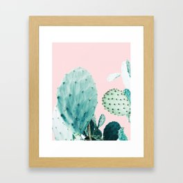 Cactus, Plant, Cacti, Nature, Pastel, Art, Scandinavian, Wall art Print Framed Art Print
