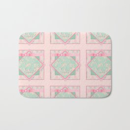 Button and Bows Bath Mat