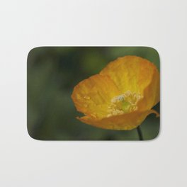 Californian Poppy Flower - After the Rain Bath Mat