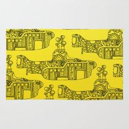 Yellow Submarine Pattern Rug