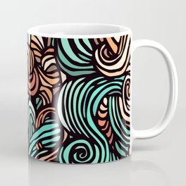 Swirl Design Coffee Mug