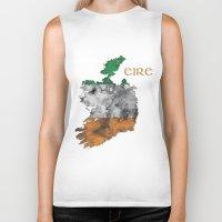 ruben ireland Biker Tanks featuring Eire / Ireland by Dandy Octopus