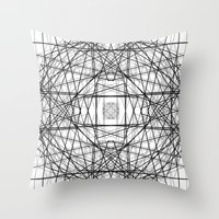 code Throw Pillows featuring Code 2 by Dood_L