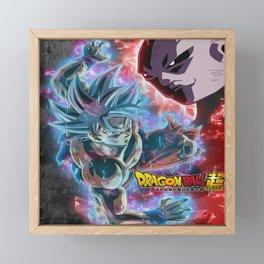 Dragon ball super son goku vs jiren Framed Mini Art Print