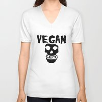 misfits V-neck T-shirts featuring vegan misfits by sQuoze