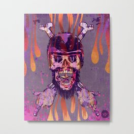 Moto Head Metal Print